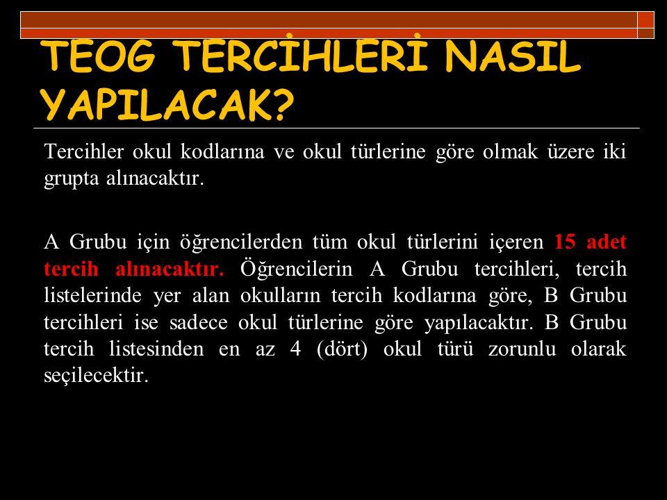TEOG TERCİHLERİ NASIL YAPILACAK
