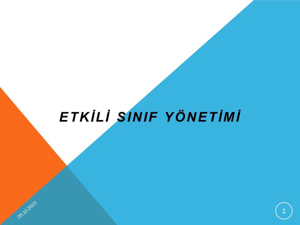 ETKİLİ SINIF YÖNETİMİ 23.04.2017
