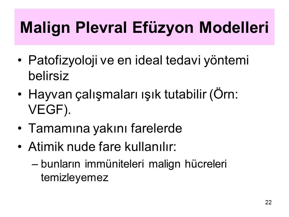 Malign Plevral Efüzyon Modelleri
