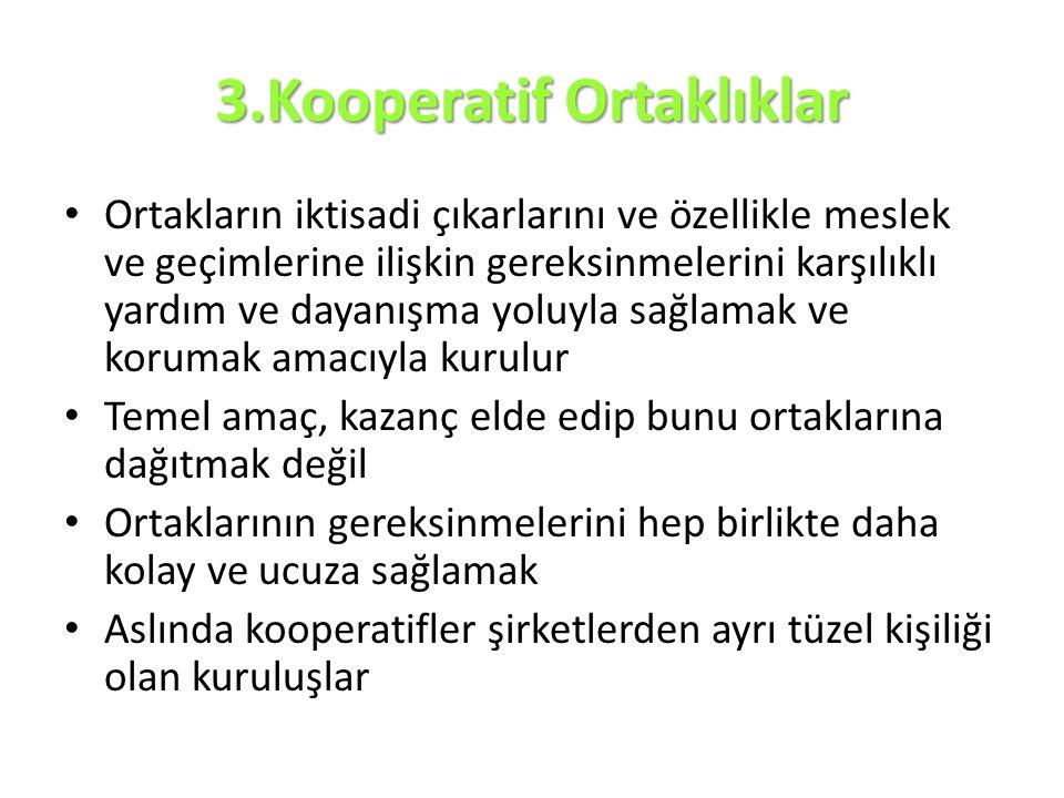 3.Kooperatif Ortaklıklar