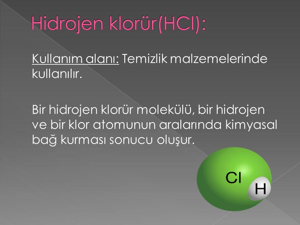 Hidrojen klorür(HCl):