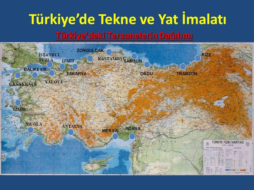 Türkiye'de Tekne ve Yat İmalatı