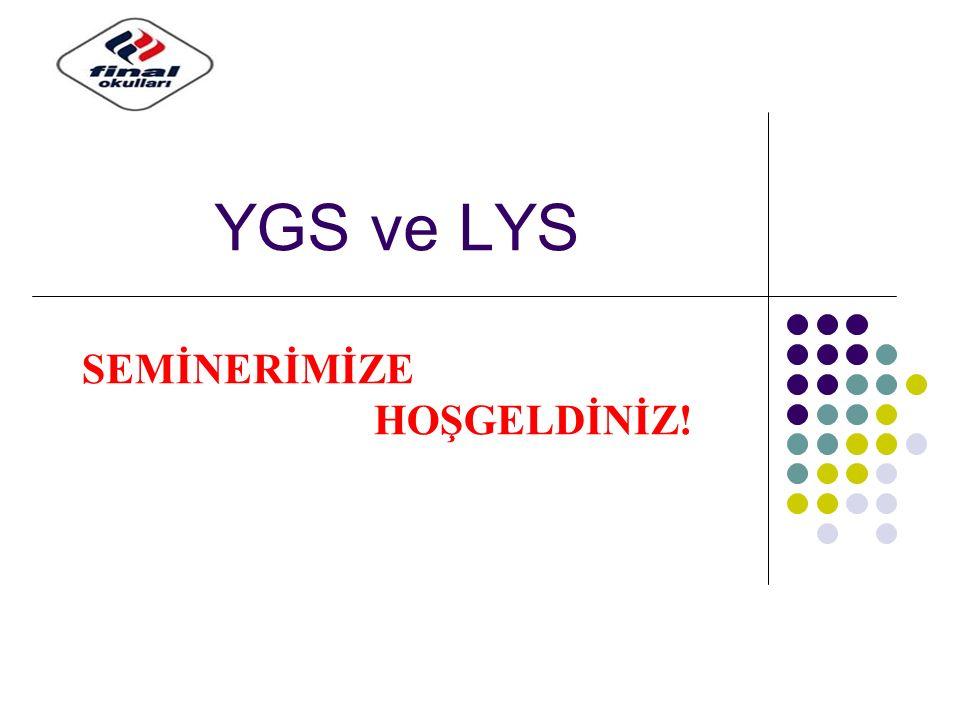 YGS ve LYS SEMİNERİMİZE HOŞGELDİNİZ!