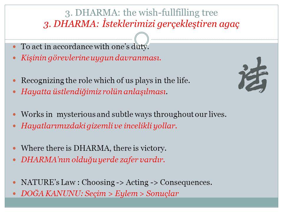 3. DHARMA: the wish-fullfilling tree 3
