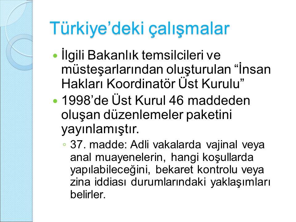 Türkiye'deki çalışmalar