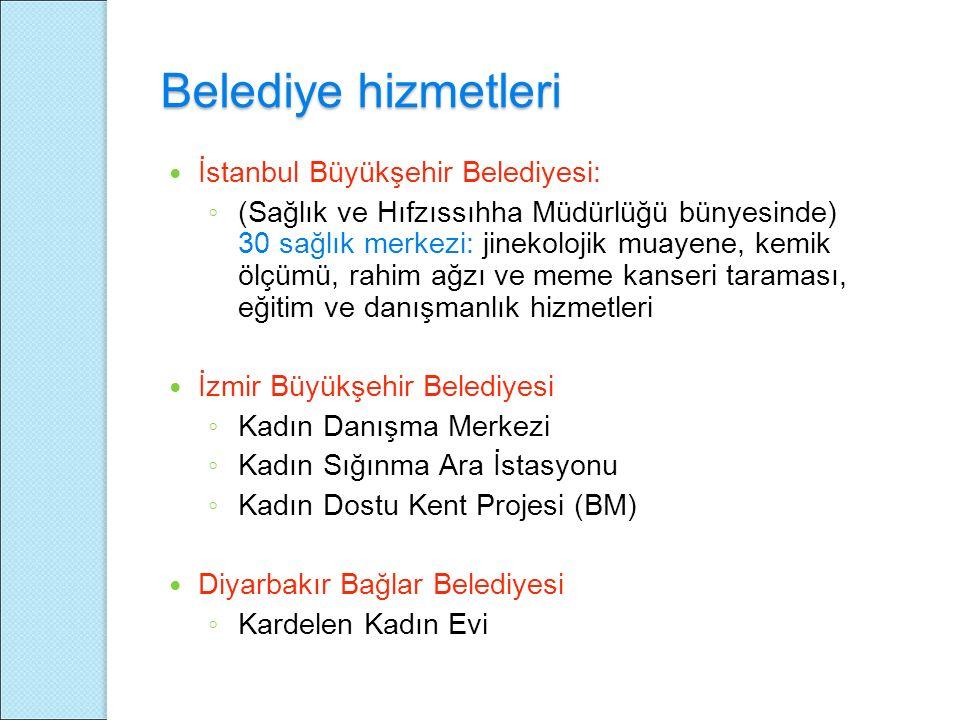 Belediye hizmetleri İstanbul Büyükşehir Belediyesi: