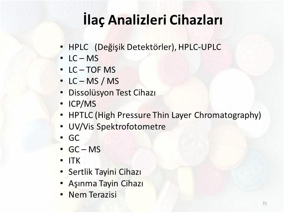 İlaç Analizleri Cihazları