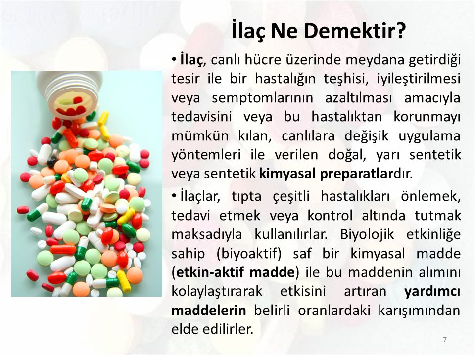 İlaç Ne Demektir