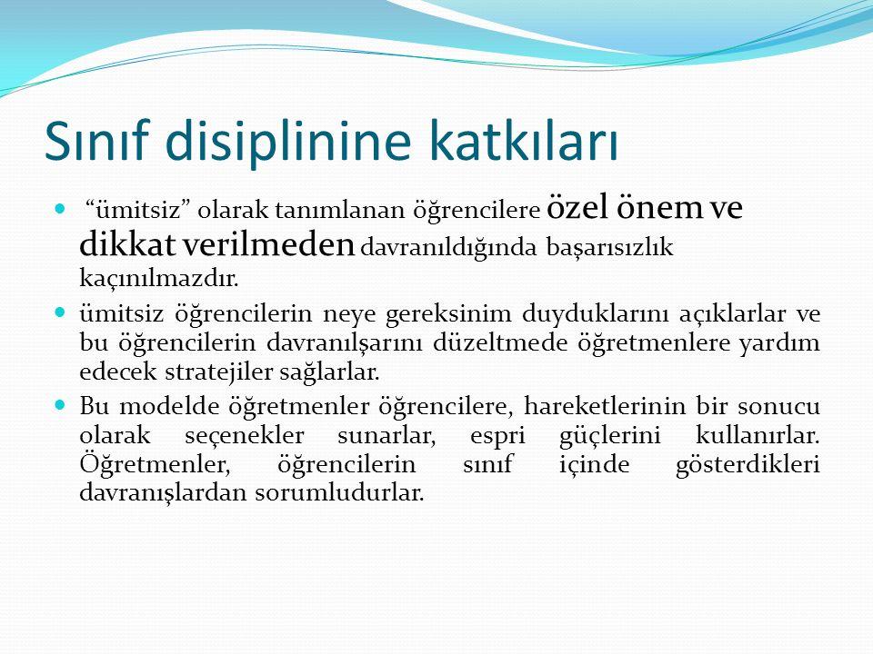 Sınıf disiplinine katkıları