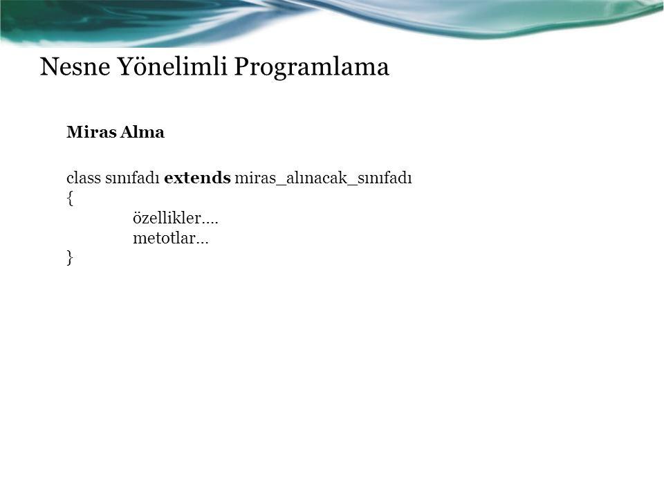 Nesne Yönelimli Programlama