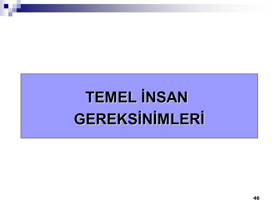 TEMEL İNSAN GEREKSİNİMLERİ