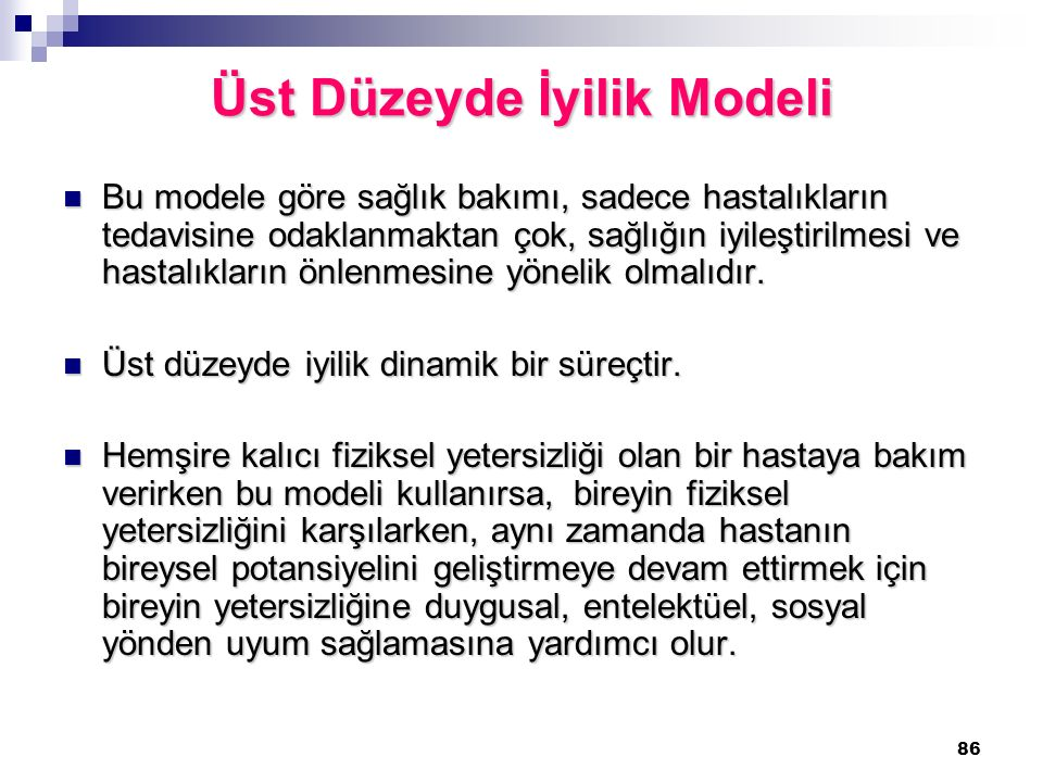 Üst Düzeyde İyilik Modeli
