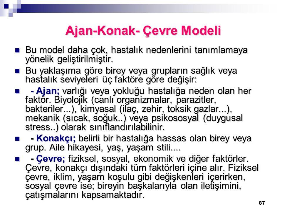 Ajan-Konak- Çevre Modeli