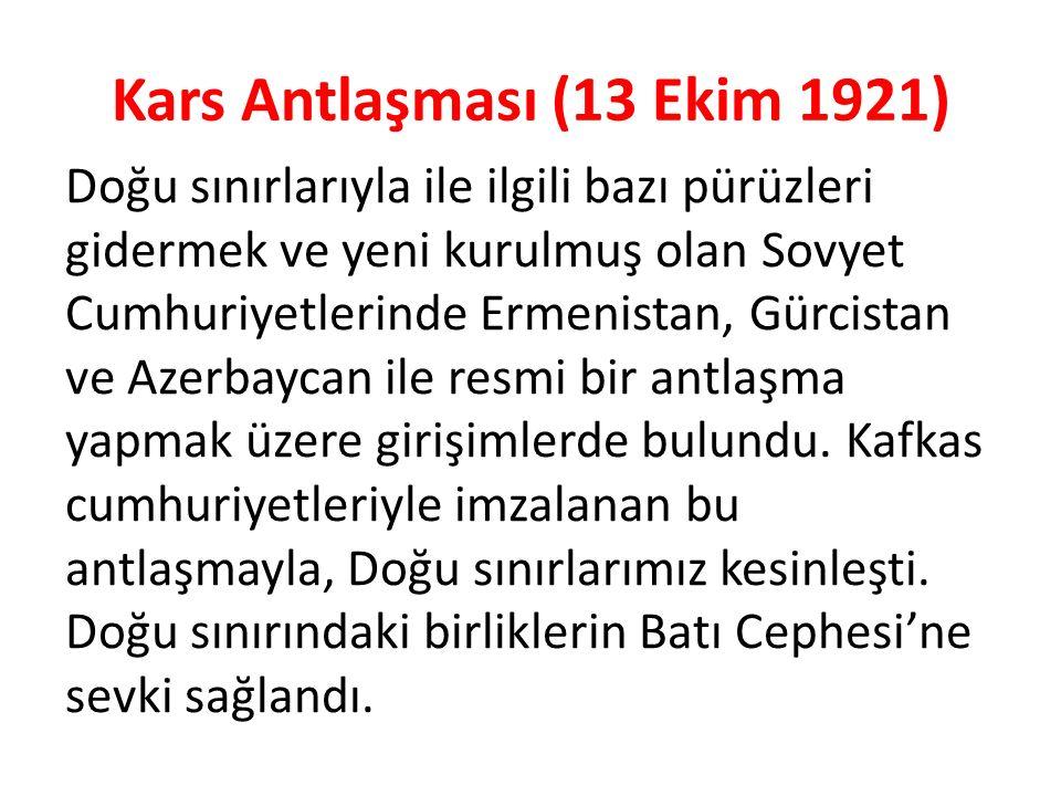Kars Antlaşması (13 Ekim 1921)