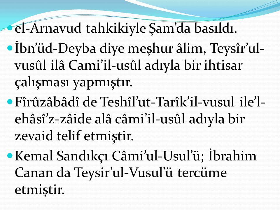 el-Arnavud tahkikiyle Şam'da basıldı.
