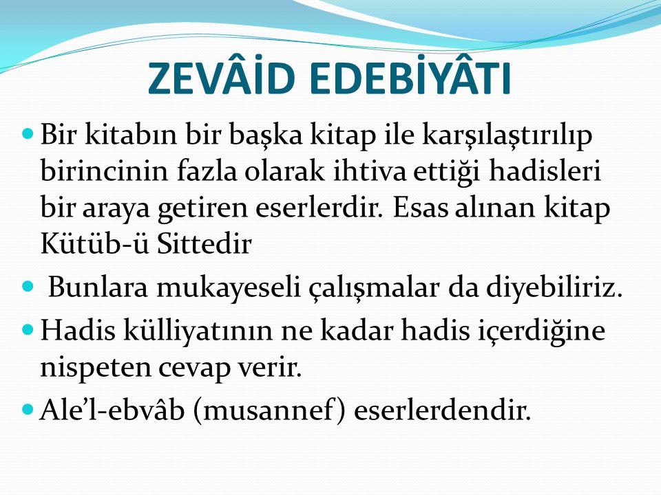 ZEVÂİD EDEBİYÂTI