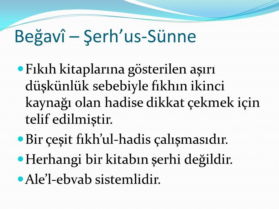 Beğavî – Şerh'us-Sünne