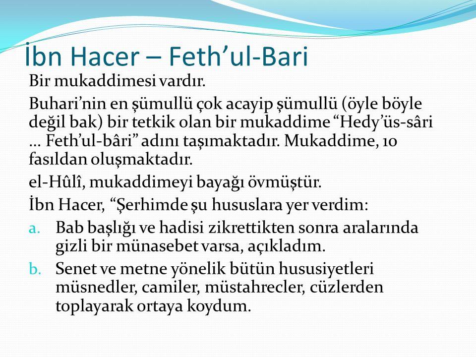 İbn Hacer – Feth'ul-Bari