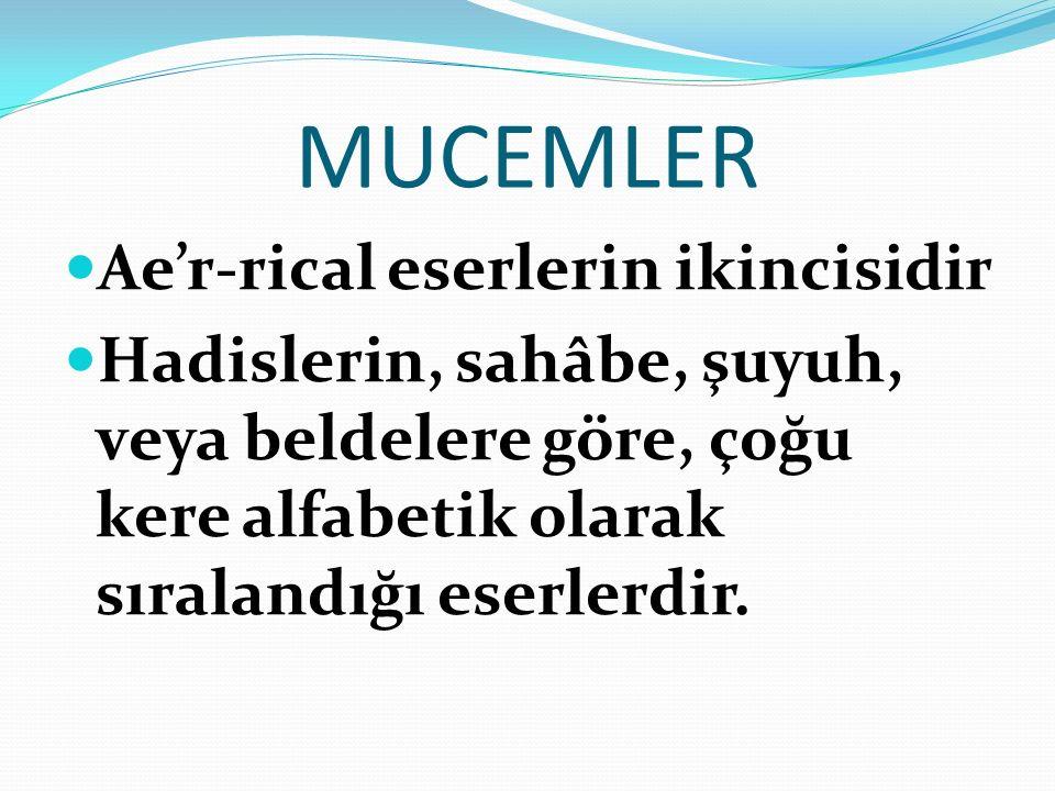 MUCEMLER Ae'r-rical eserlerin ikincisidir