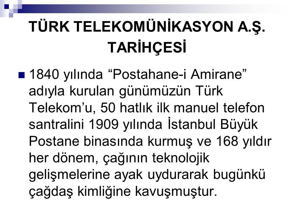 TÜRK TELEKOMÜNİKASYON A.Ş. TARİHÇESİ