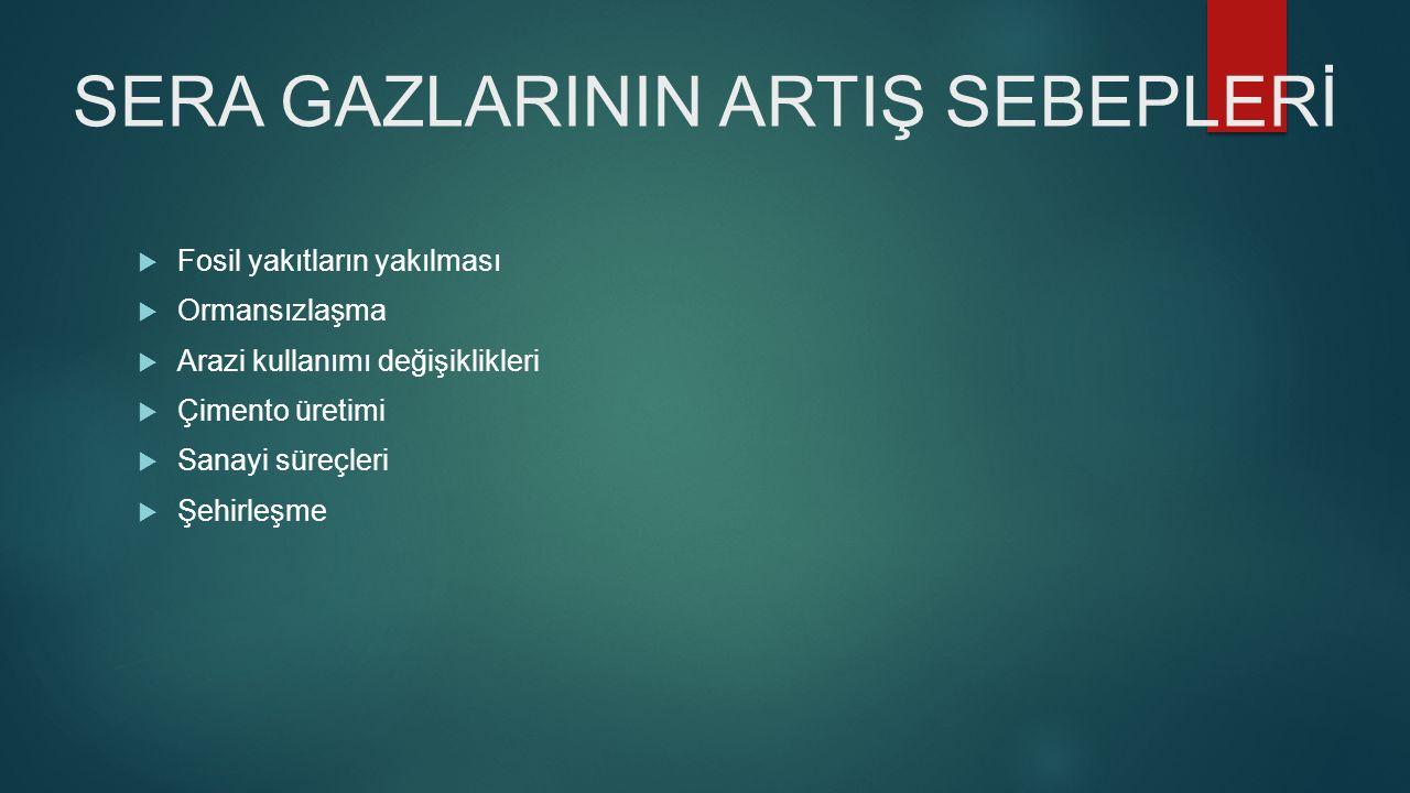 SERA GAZLARININ ARTIŞ SEBEPLERİ