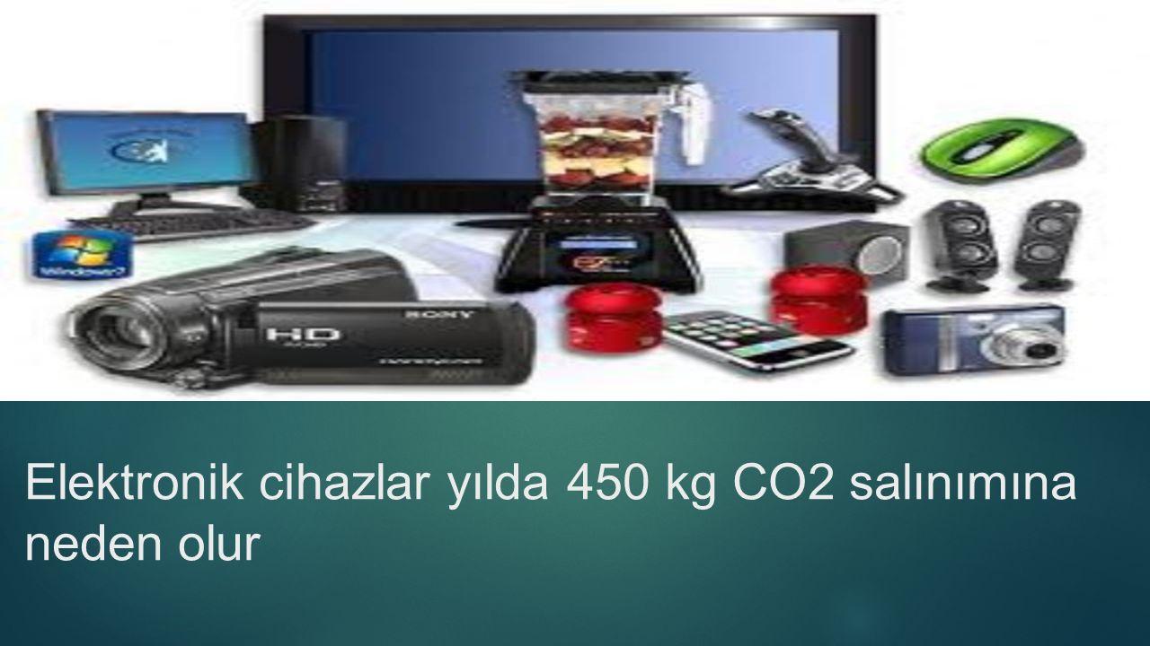 Elektronik cihazlar yılda 450 kg CO2 salınımına neden olur