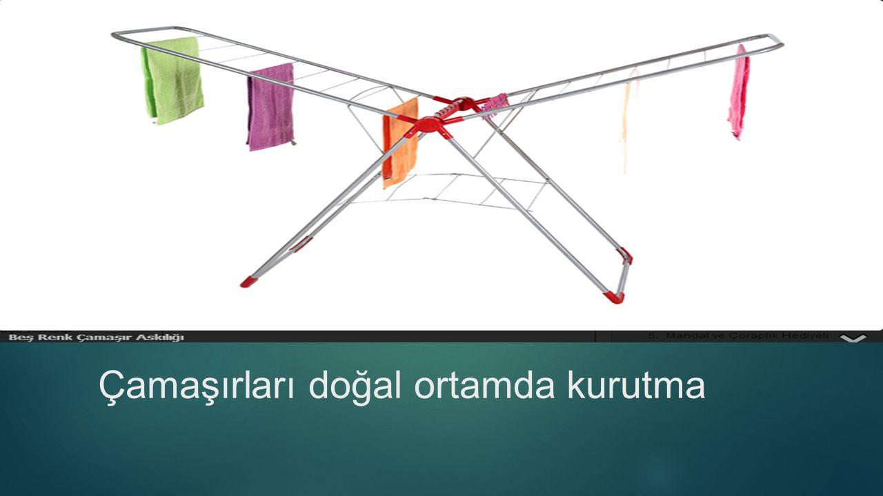Çamaşırları doğal ortamda kurutma