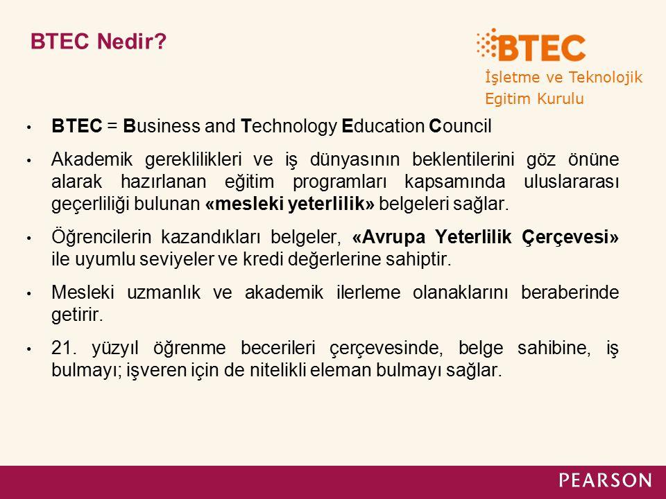İşletme ve Teknolojik Egitim Kurulu. BTEC Nedir
