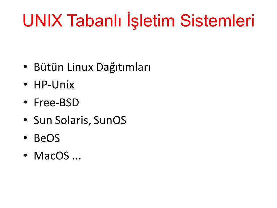UNIX Tabanlı İşletim Sistemleri