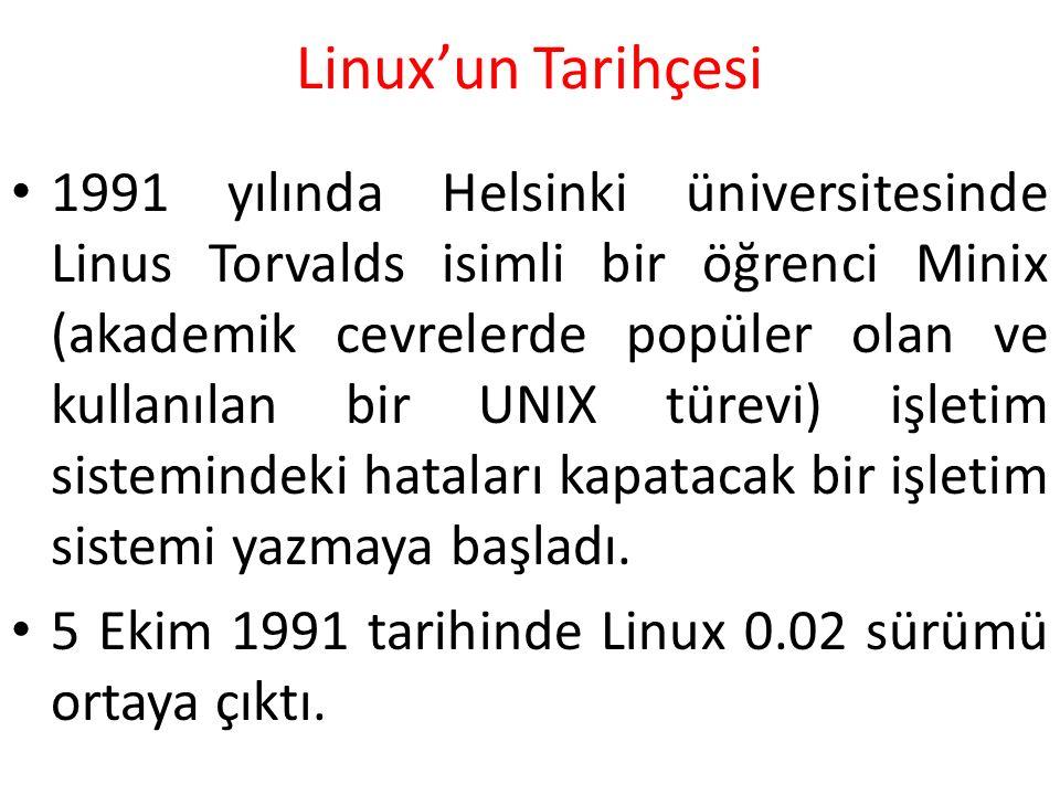 Linux'un Tarihçesi