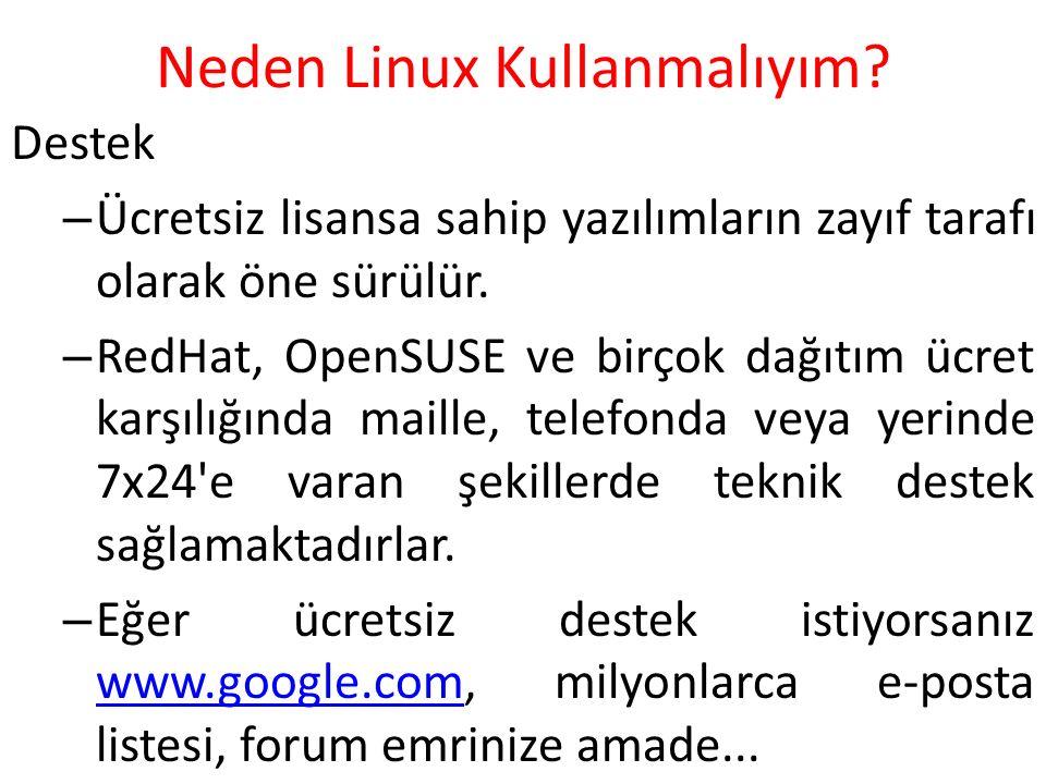 Neden Linux Kullanmalıyım