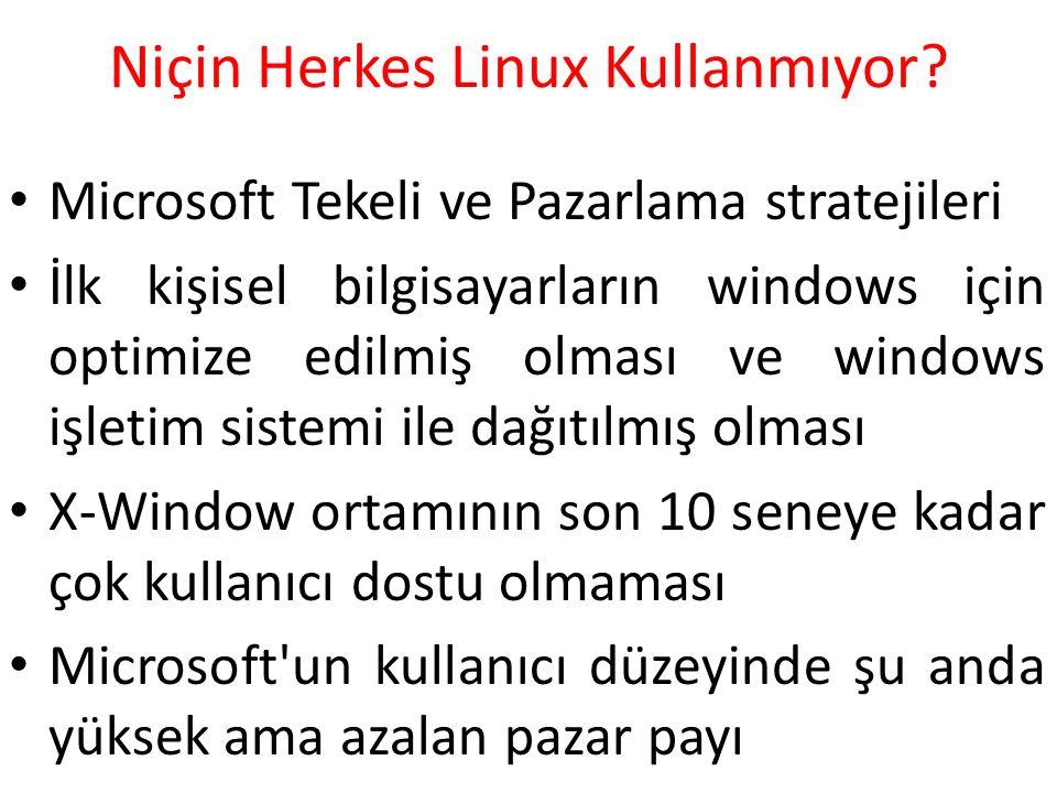 Niçin Herkes Linux Kullanmıyor