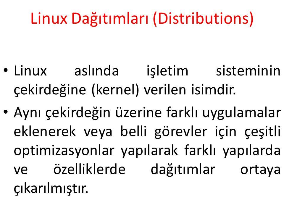 Linux Dağıtımları (Distributions)