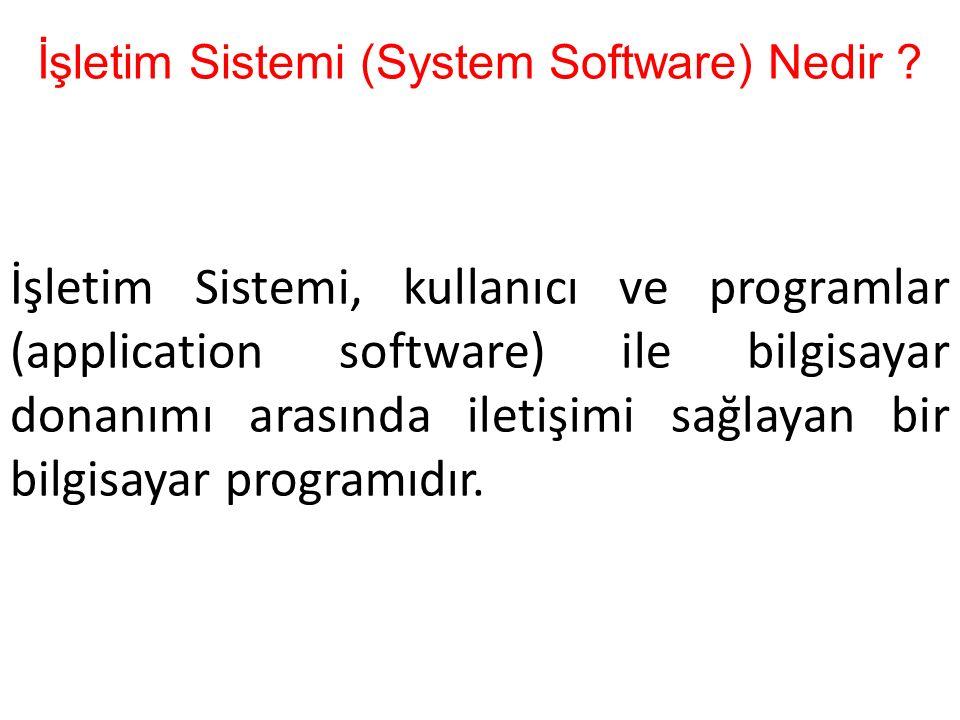 İşletim Sistemi (System Software) Nedir