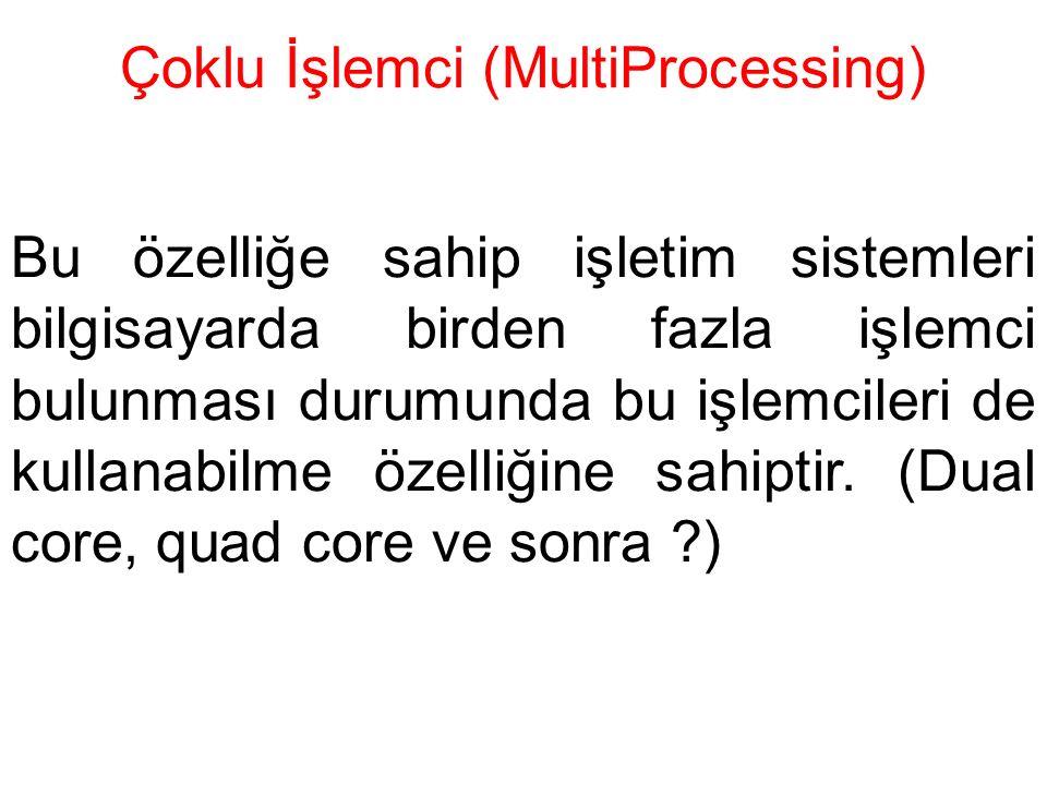 Çoklu İşlemci (MultiProcessing)