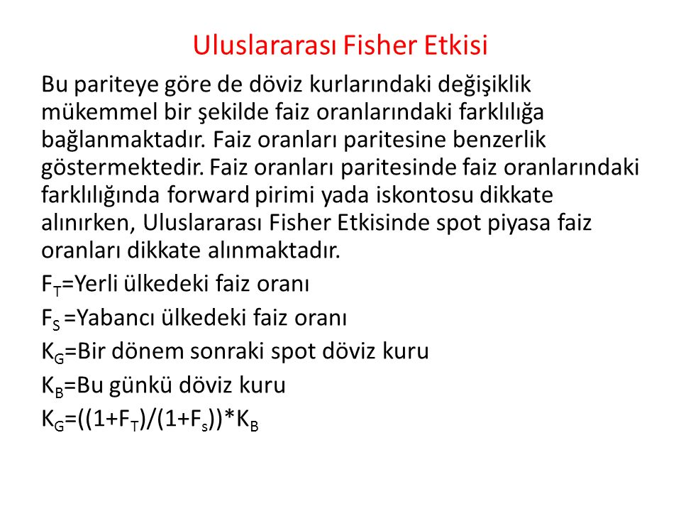Uluslararası Fisher Etkisi