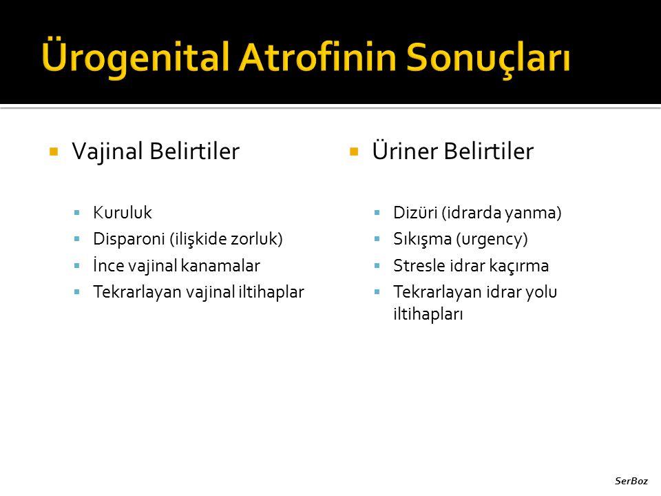 Ürogenital Atrofinin Sonuçları