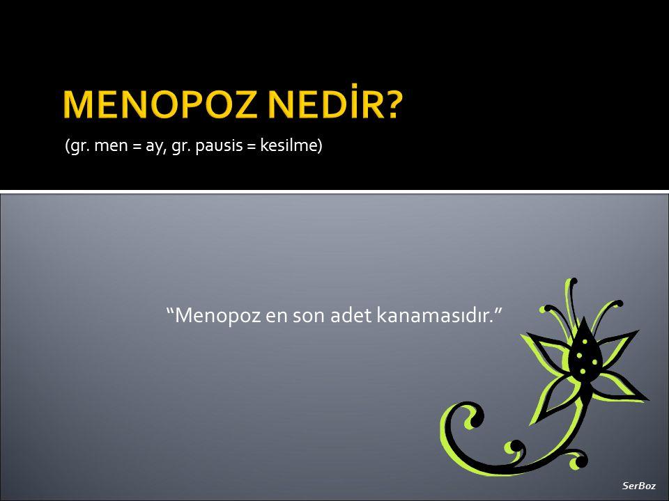 Menopoz en son adet kanamasıdır.