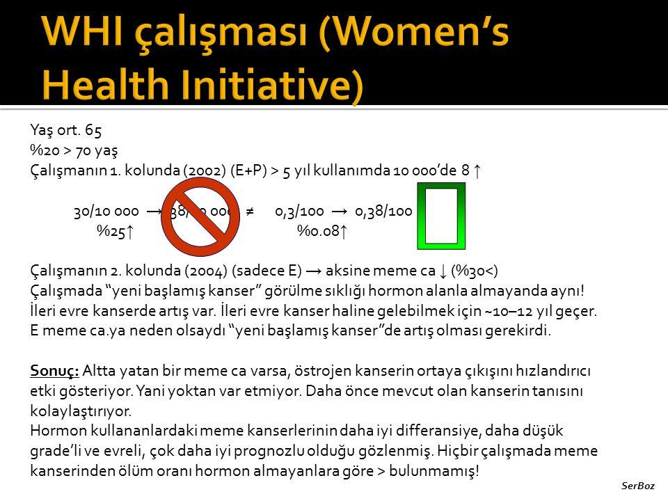 WHI çalışması (Women's Health Initiative)