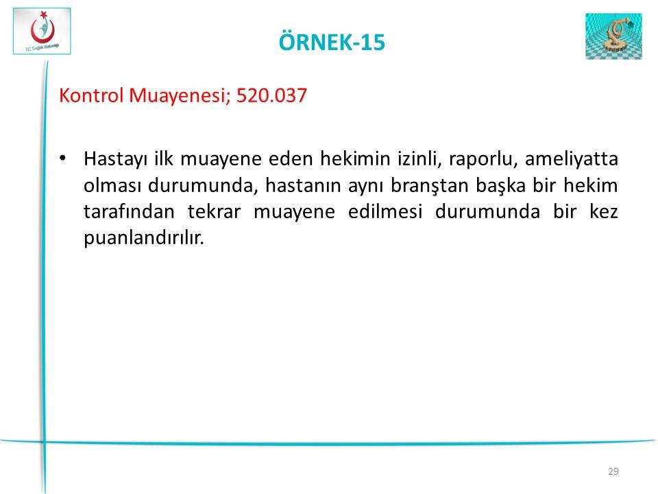 ÖRNEK-15 Kontrol Muayenesi; 520.037