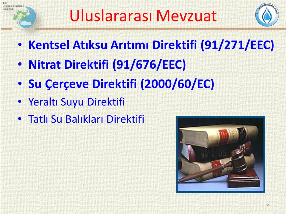 Uluslararası Mevzuat Kentsel Atıksu Arıtımı Direktifi (91/271/EEC)