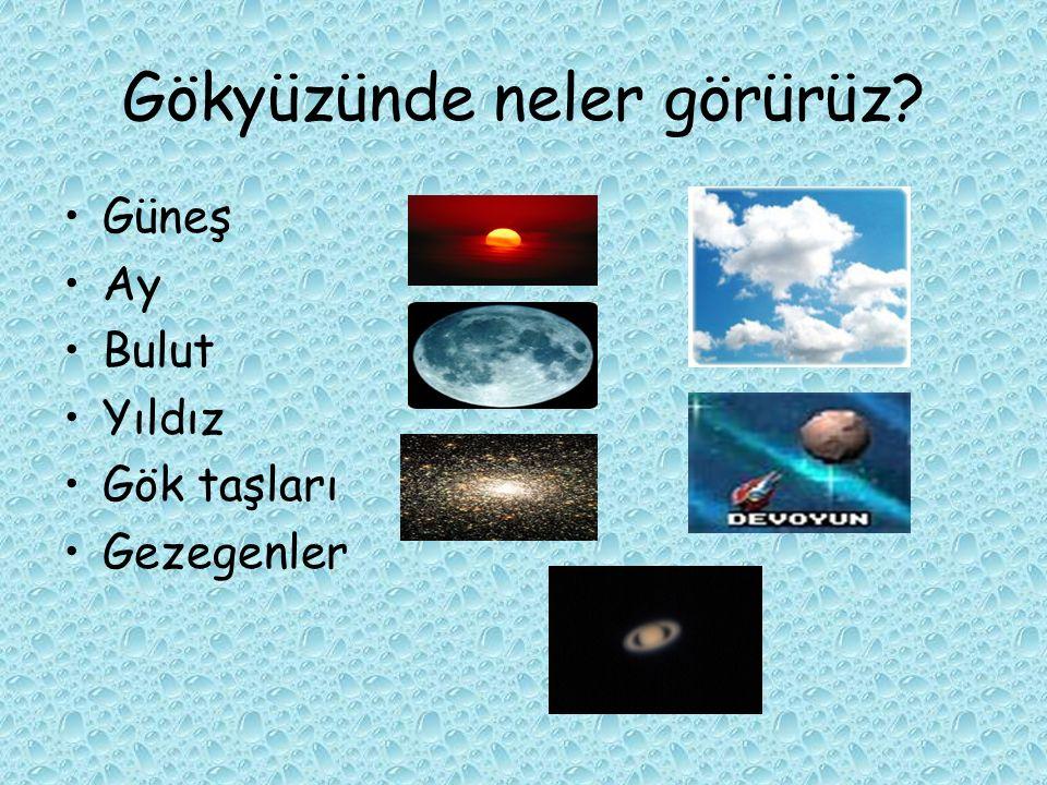 Gökyüzünde neler görürüz