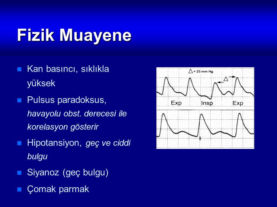 Fizik Muayene Kan basıncı, sıklıkla yüksek