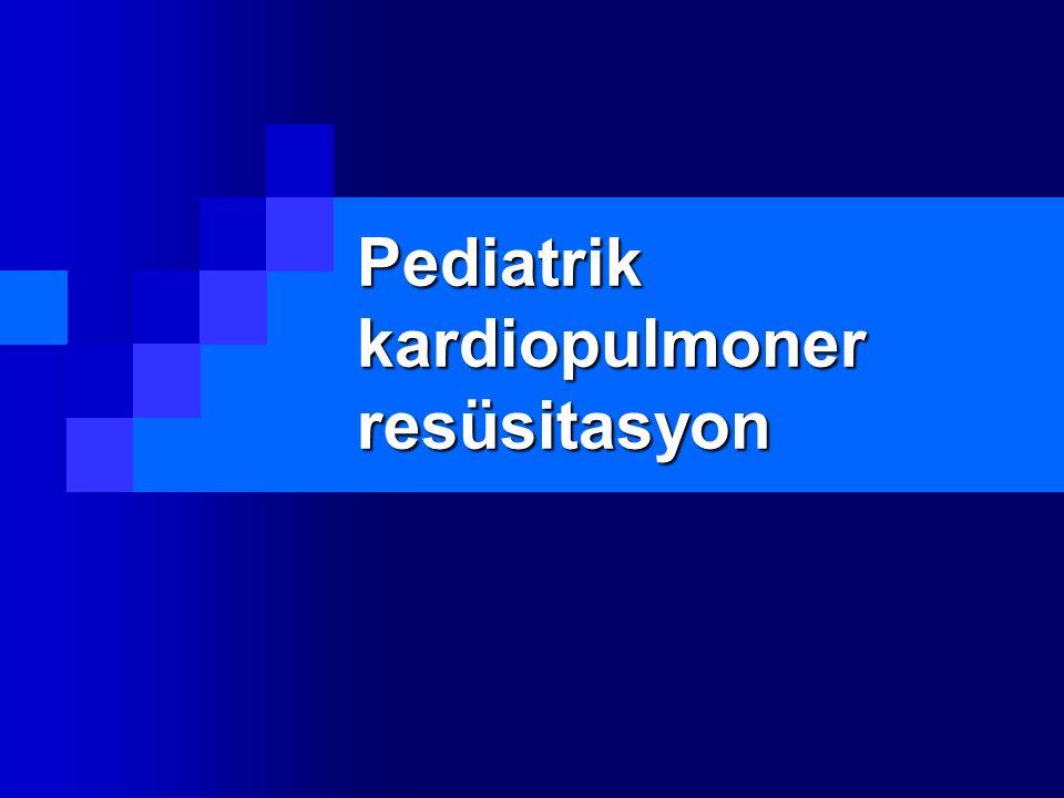Pediatrik kardiopulmoner resüsitasyon