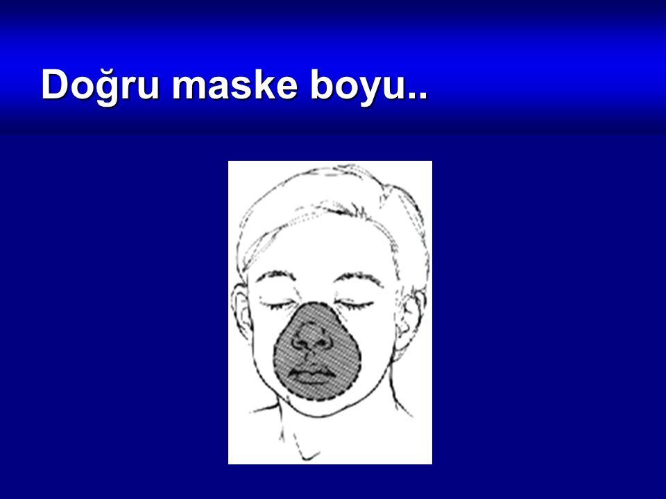 Doğru maske boyu..