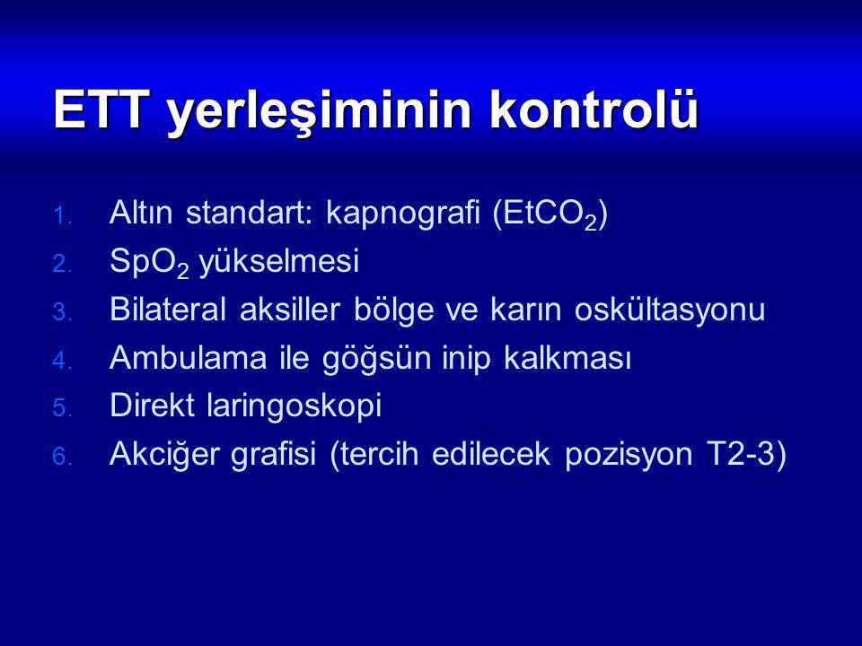 ETT yerleşiminin kontrolü