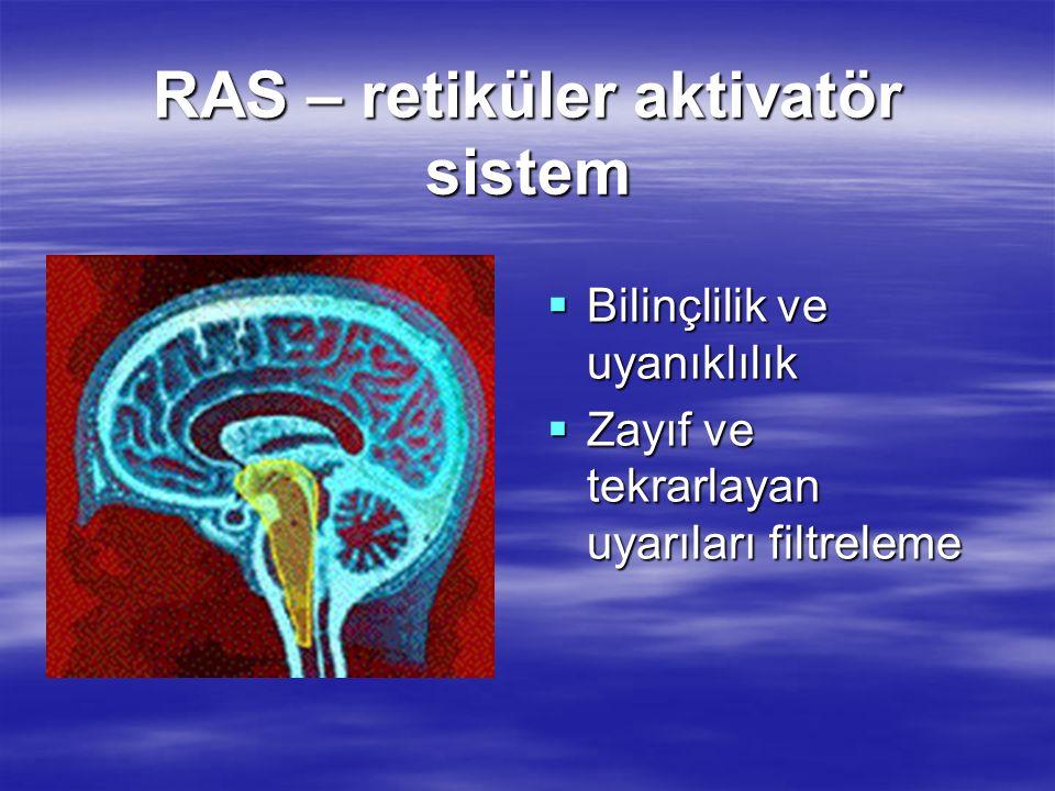 RAS – retiküler aktivatör sistem