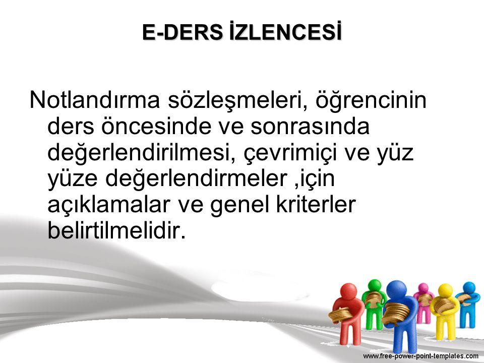 E-DERS İZLENCESİ