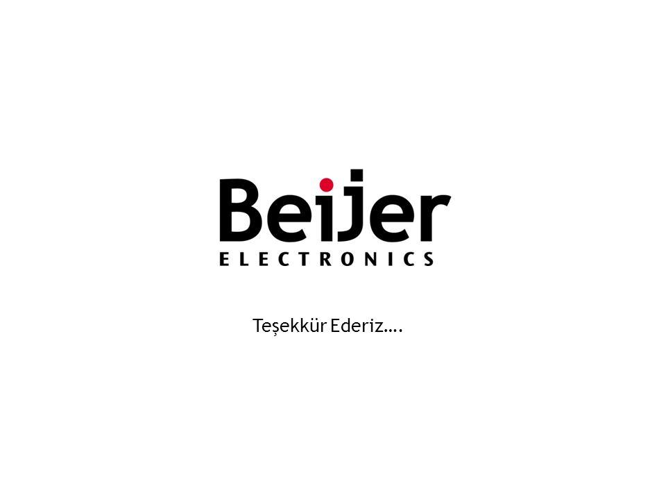 Teşekkür Ederiz…. Copyright Beijer Electronics