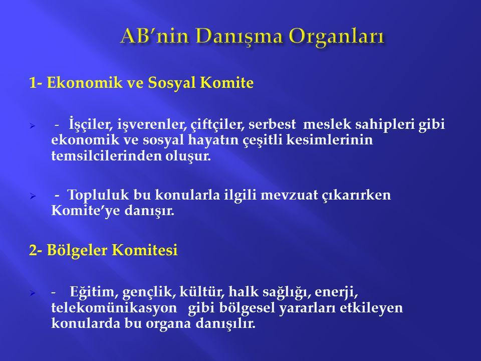 AB'nin Danışma Organları